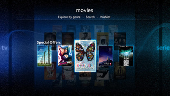 Movie selection screen