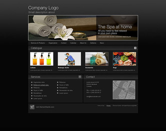 Business Template with black background