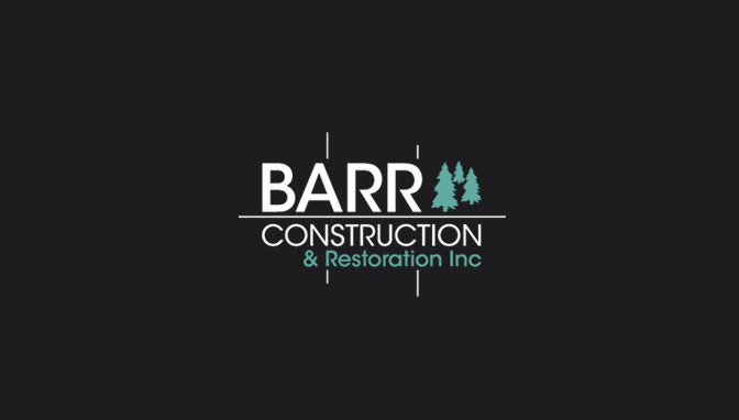 Logo Barr Construction - Negative version