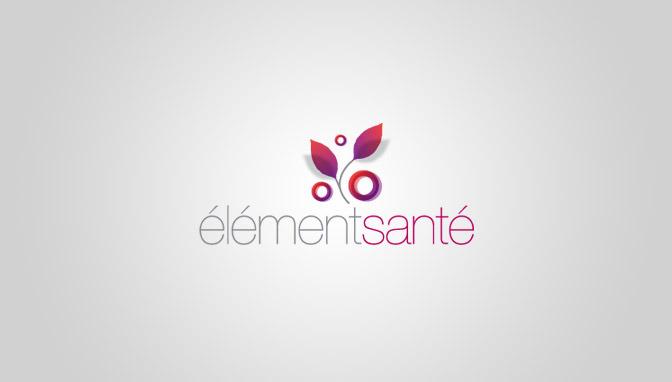 Logo Élément Santé - Fucsia version