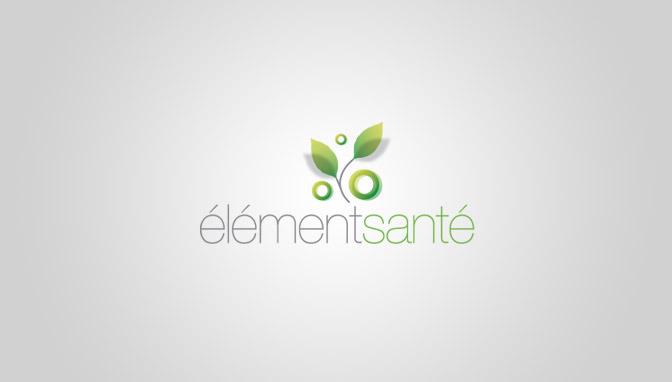 Logo Élément Santé - Green version