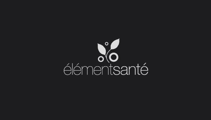 Logo Élément Santé - Negative version