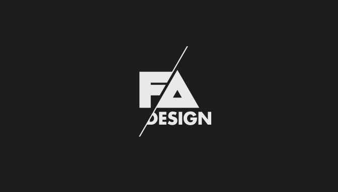 Logo FA Design - Negative version