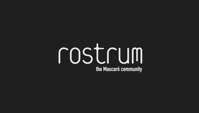 Logo Rostrum - Negative version