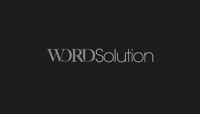 Logo Word Solution - Negative version