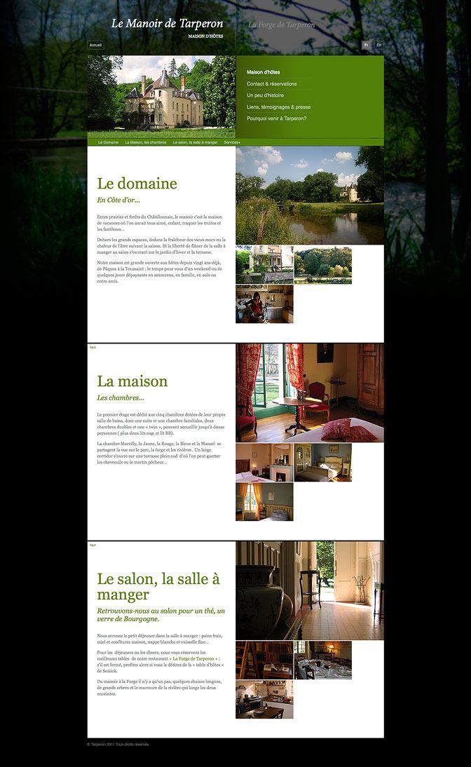 Le Manoir de Tarperon - Interior page