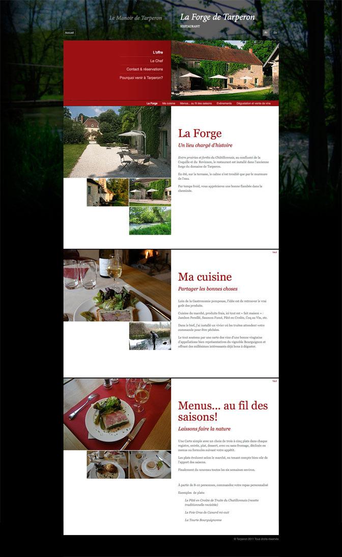 La Forge de Tarperon - Interior page