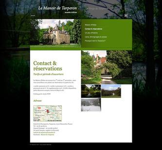 Le Manoir de Tarperon - Contact page